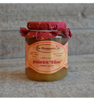 "Confiture Poire Williams ""la Roumanière"""